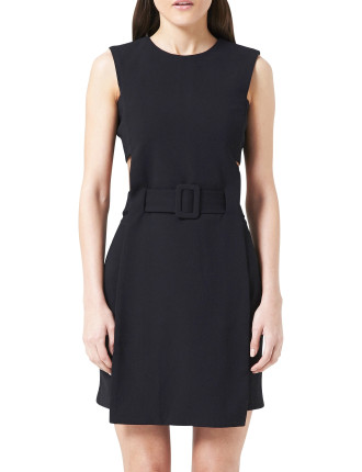 Tailored Cut Out Simple Dress
