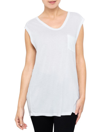 Classic Muscle Tee With Pocket