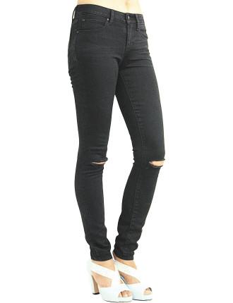 Mya Low - Mid Rise Skinny With Knee Slit