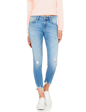ALISSA HIGH RISE SKINNY ANKLE WITH LIGHT DESTRUCTION
