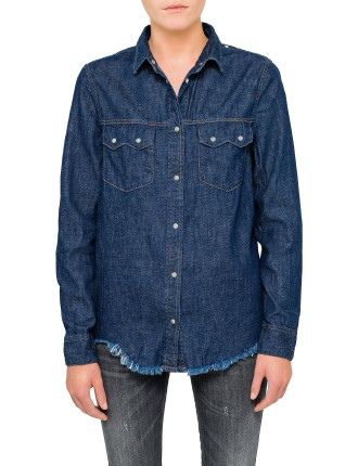 DE KARY DENIM SHIRT W/FRAY