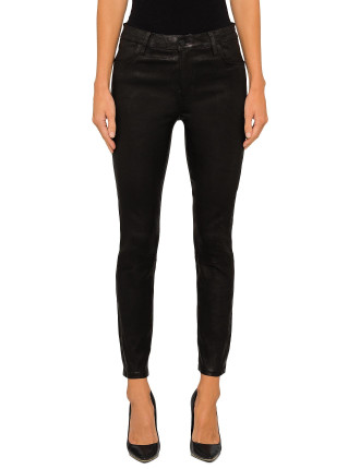 Alana High Rise Crop Skinny - Leather