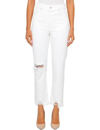 CHARLOTTE HIGH RISE STRAIGHT ANKLE JEAN
