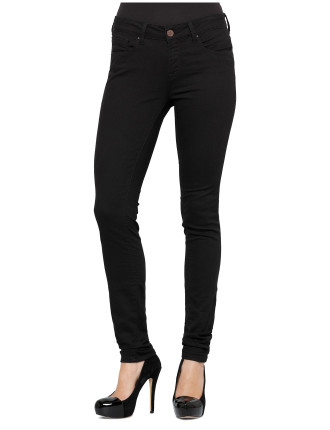 Alexa Mid Rise Skinny Black Super Stretch