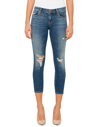 Low Rise Skinny Distressed