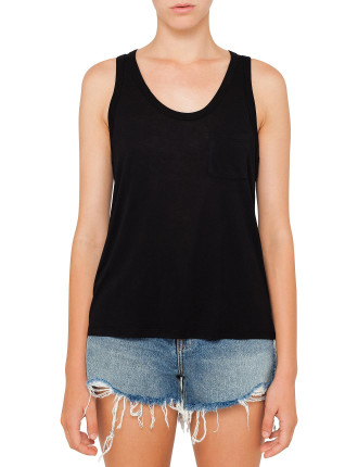 Classic Rayon Ecosil Jersey Tank With Pocket