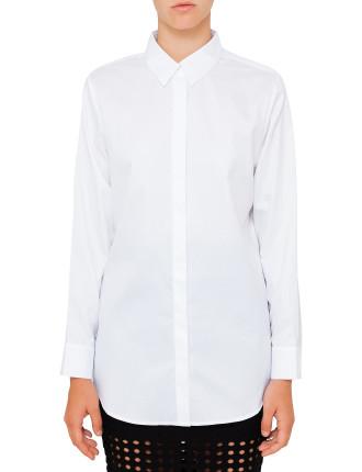 Lightweight Cotton Poplin Long Sleeve Button Down