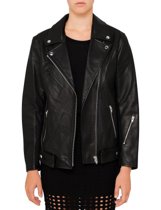 Leather Oversized Motorcycle Jacket