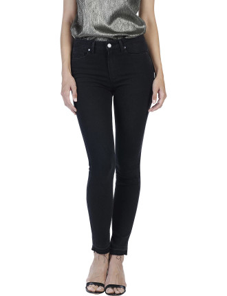 Madeline High Rise Skinny Jean With Undone Hem