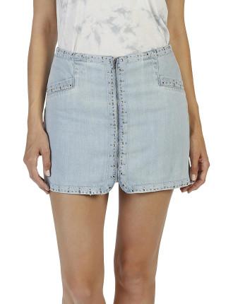 Hattie Zip Embellished Skirt