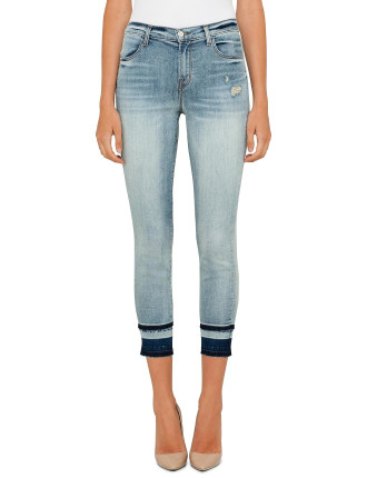 Alana High Rise Crop Skinny With Release Hem
