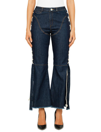 Desert Days Flare Jeans With Rope Plating Detail