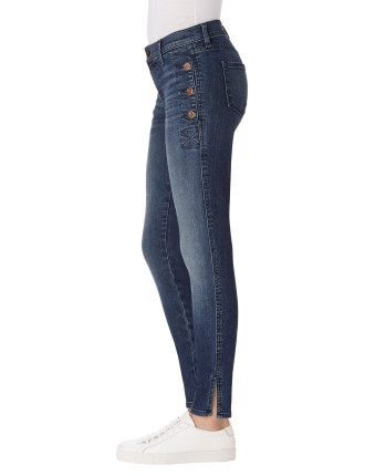 Zion Mid Rise Skinny With Exposed Hardware