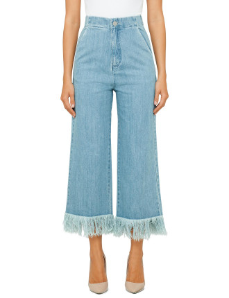 Run Free Fray Cullotes Jeans
