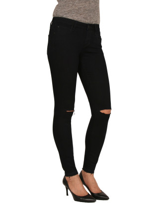 Lisa High Rise Ankle With Knee Slits and Release Hem