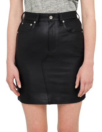 Dive Leather Skirt