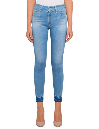 Farrah High Rise Skinny Ankle With Hem Detail