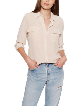 Solid Silk Shirt