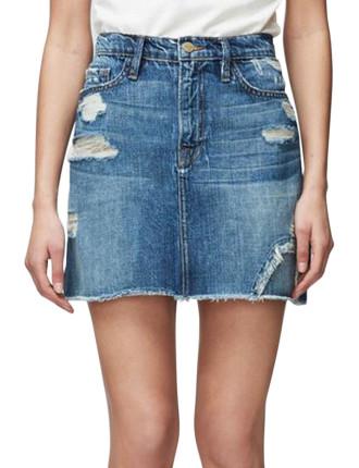 Le Mini Skirt Raw Edge