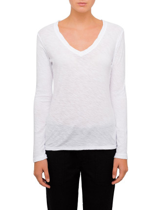 Casual Longsleeve Tee With Reverse Binding