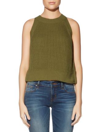 Sleeveless Carlie Crop Sweater