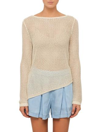 Longsleeve Gia Asymmetrical Hem Sweater