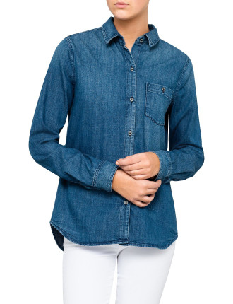Mid Blue Denim Shirt