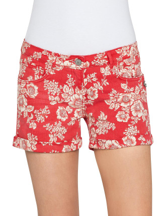 Hawaii Printed Boyfriend Short