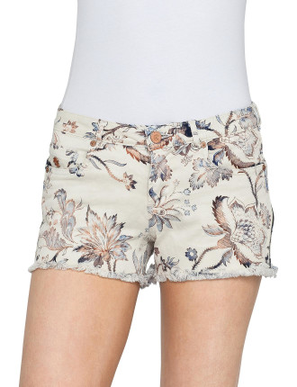 Denim Short With Embroidery Details