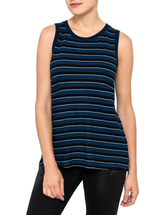 The Muscle Striped Tee