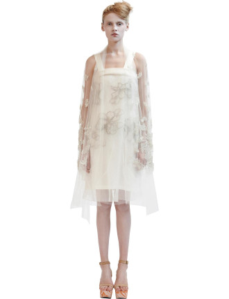 Silk Organza and Tulle Dress