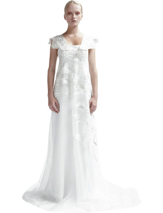 Embroided Strap Gown
