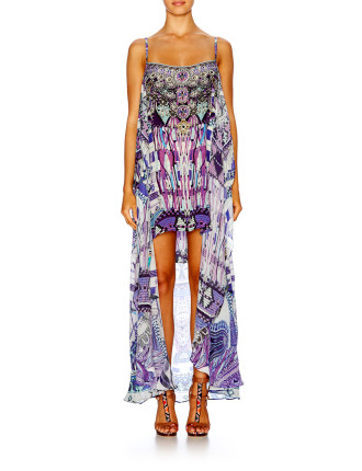 CAMILLA Ritual Rhapsody Mini Dress With Long Overlay
