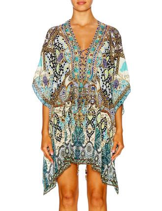 CAMILLA Meet Me In Casablanca Short Lace Up Kaftan