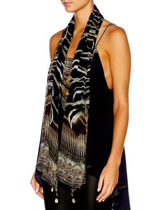 CAMILLA Zebra Crossing Long Scarf