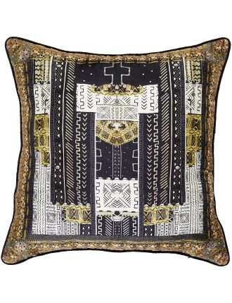 CAMILLA Mali Mud Story Small Square Cushion