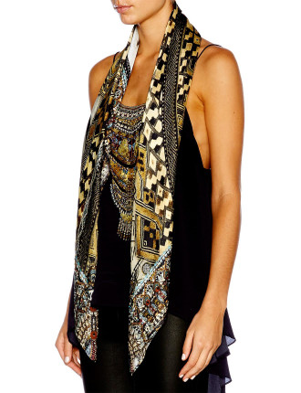 CAMILLA Weave of Wild Large Square Scarf