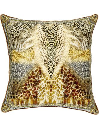 CAMILLA Leopards Leap Large Square Cushion
