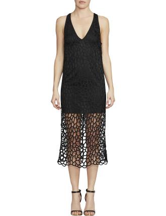 Cornelli Lace V Neck Dress