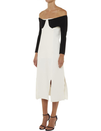 Tailored Panelled Sleeved Dress