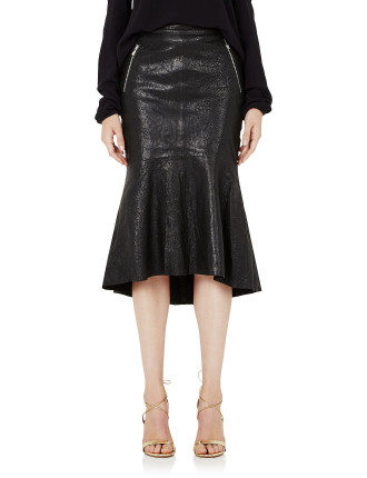 Pelle Fit And Flare Skirt