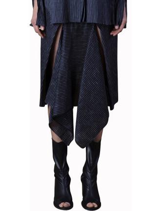 Fold And Split Front Skirt