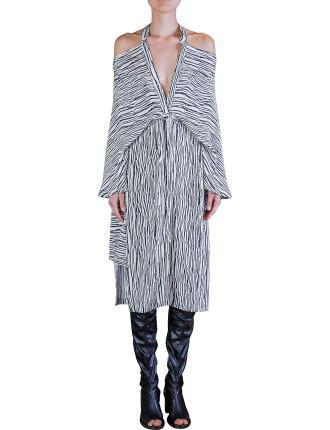 Graphic Kimono Release Dress