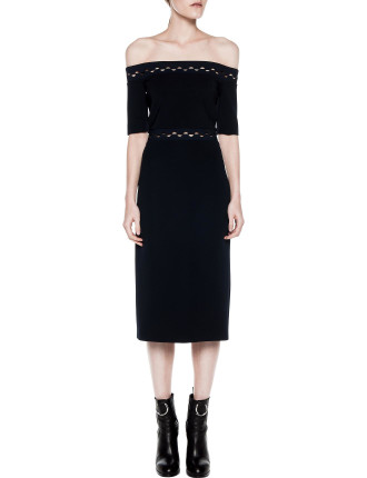 Eclipse Laced Shoulderless Dress