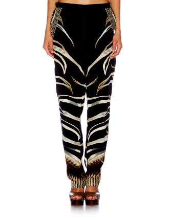 CAMILLA Zebra Crossing Tailored Pants With Side Pockets