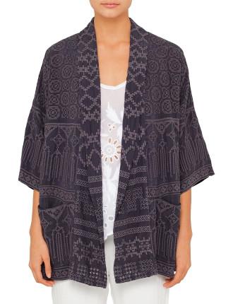 Tribal Embroidered Kimono