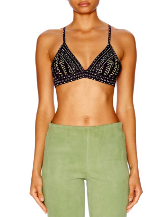 CAMILLA Mali Mud Story Triangle Bra Top W/ Seam