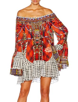 CAMILLA Tartan Trance A Line Frill Dress