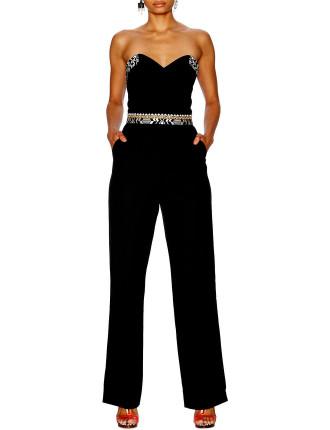 CAMILLA Black Bustier Jumpsuit