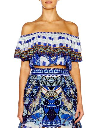 CAMILLA Rhythm & Blues Midriff Frill Top